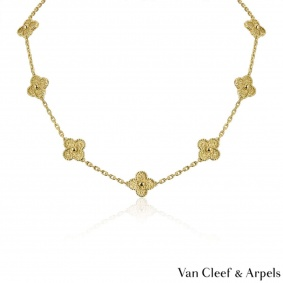 Van Cleef & Arpels Yellow Gold Vintage Alhambra Necklace VCARO1ID00